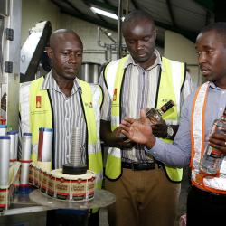 Ministry of Trade team visits Uganda Breweries